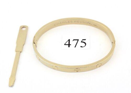 1970 Aldo Cipullo Charles Revson Gold Electroplate Love Armreif Bracelet by Ebay Seller