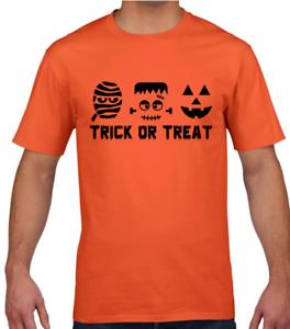 Halloween Trick or Treat Kids T-Shirt Funny Halloween Boys Girls Tee Top