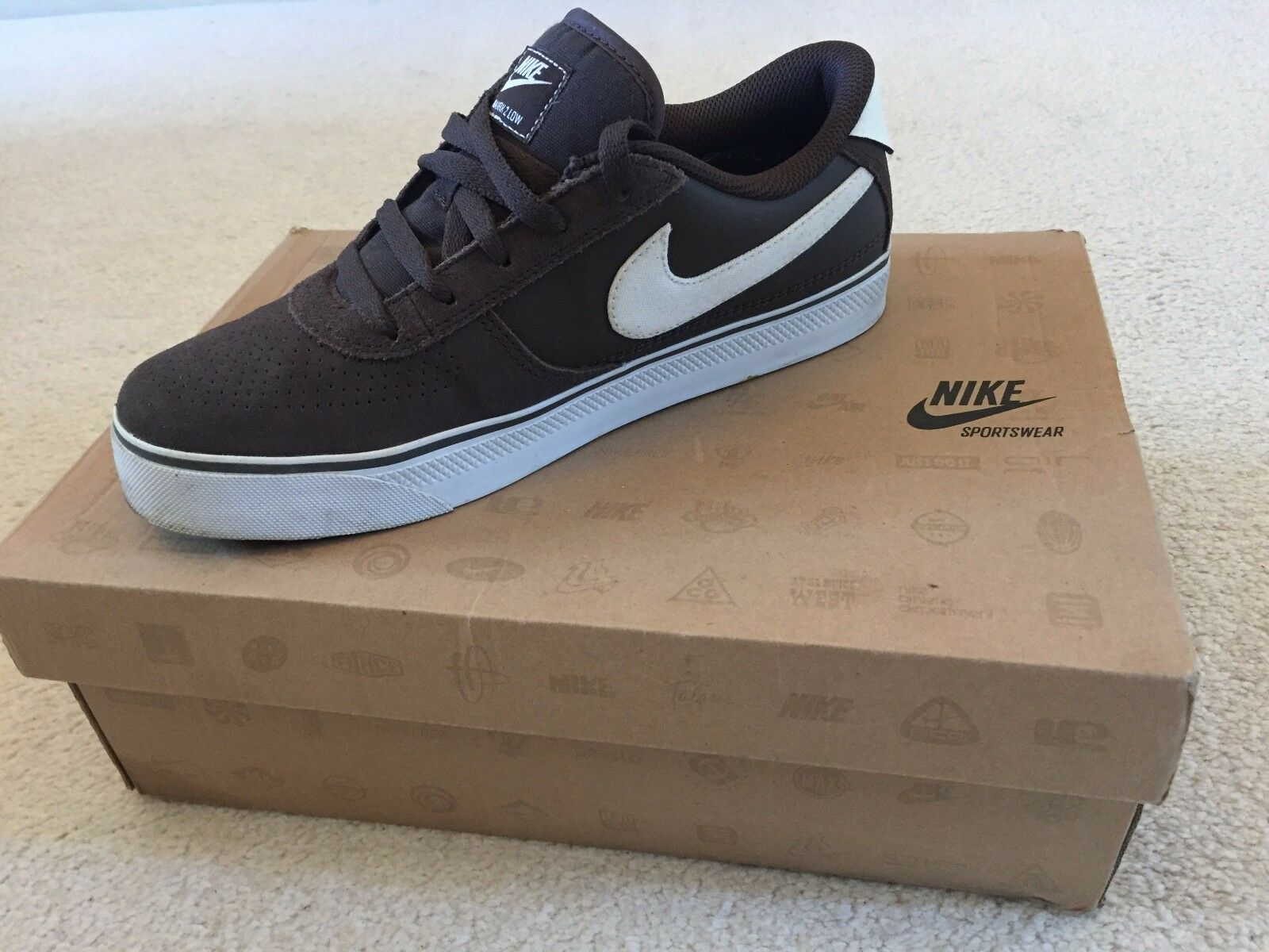 Nike Blazers Trainers | Low Top Casual Shoes/Boots | Brown Suede Leather New shoes for men and women, limited time discount