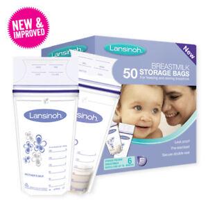 Nuevas bolsas de almacenamiento de leche materna de Lansinoh 100breast count fre