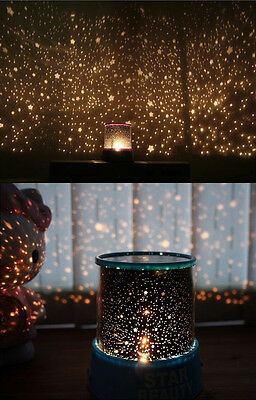 Auto Rotate Romantic Sky Star Master LED Night Light Projector Lamp With Music