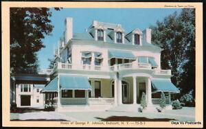 ENDICOTT-NY-George-F-Johnson-Home-Vintage-1956-Postcard