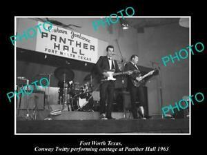 OLD-8x6-HISTORIC-PHOTO-OF-FORT-WORTH-TEXAS-CONWAY-TWITTY-AT-PANTHER-HALL-1963