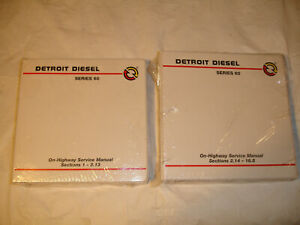 Details about NEW Factory Detroit sel Series 60 SERVICE MANUAL Shop on