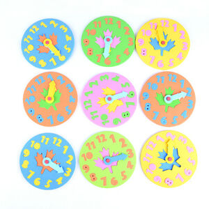 EVA-Foam-Number-Clock-Time-Jigsaw-Puzzle-Kids-Learning-Toy-Free-Shipping-GN