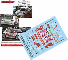 DÉCALS 1/18 réf 1301 Peugeot 306 Maxi Boetti Rallye du Var 2008