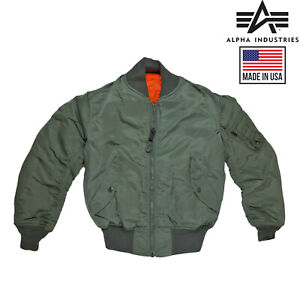 Original-Flight-Jacket-MA1-Army-Pilot-Air-Force-Alpha-Industries-Padded-Bomber