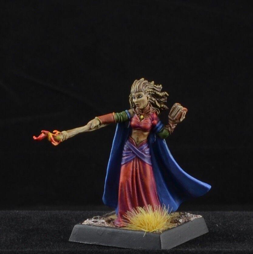 Pintado Runelord, alaznist de Reaper Miniatures D&D Hembra Mage asistente