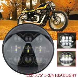 Motorrad-Scheinwerfer-5-75-034-5-3-4-Zoll-LED-Hi-Lo-Headlight-Fuer-Harley-Sportster
