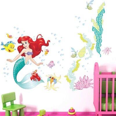 Dekoration 3d Wandtattoo Arielle Meerjungfrau Sticker Kind Aufkleber Bild Deko Film Tapete Mobel Wohnen Blog Vr Com Br