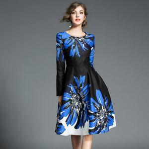 Abiti Morbidi Eleganti.Elegante Vestito Abito Lungo Donna Nero Blu Maniche Scampanato