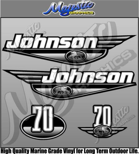 70hp JOHNSON Late 90/'s early 2000/'s OUTBOARD DECALS