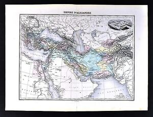1880-Migeon-Map-Empire-of-Alexander-Hellenistic-Greece-Middle-East-Babylon-Iran