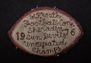 VINTAGE-1976-UNDEFEATED-YOUTH-FOOTBALL-CHAMPS-MAROON-AND-GRAY-PATCH-6-034-X-3-1-2-034