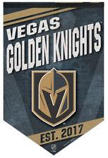 LAS VEGAS GOLDEN KNIGHTS NHL Hockey Team Premium Felt Commemorative WALL BANNER