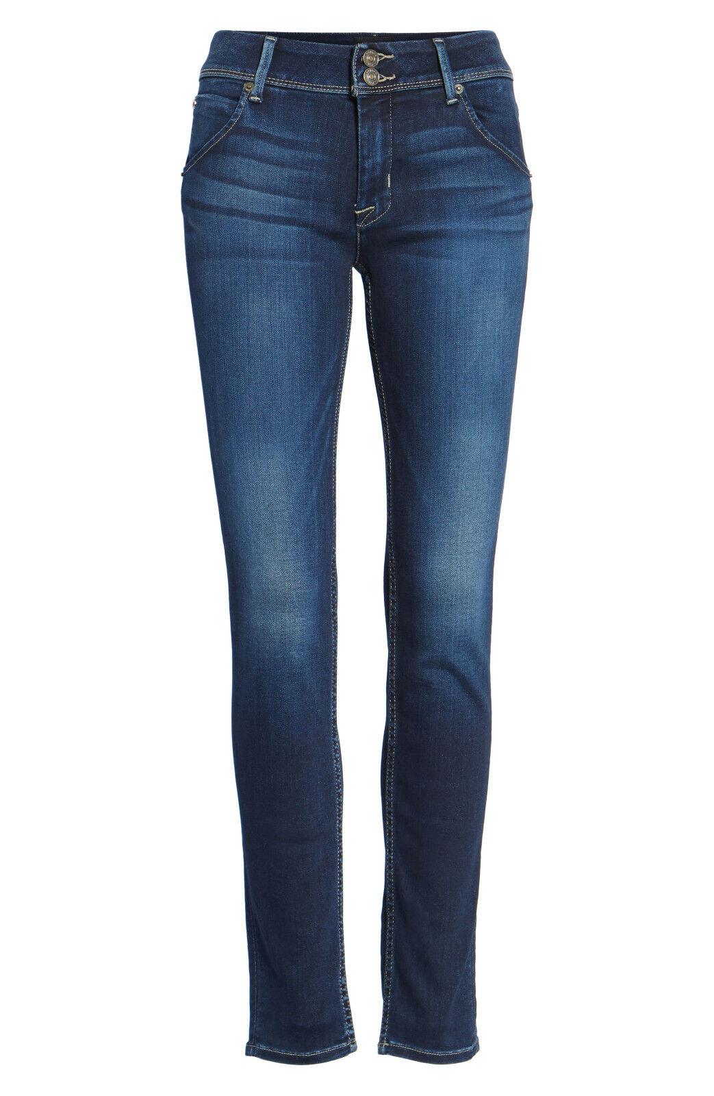 Hudson Jeans Collin Skinny Flap Dark Wash Slim Stretch Denim Pants Womens