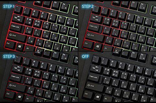 QSENN SEM-DT35 LED Stella 7 Color /& 8 Mode LED Synthesis Gaming Keyboard EN//KR