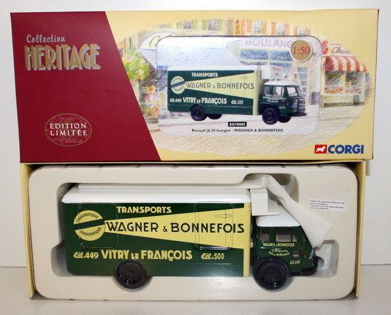 CORGI 1 50 - HERITAGE EX70905 RENAULT JL20 FOURGON - WAGNER & BONNEFOIS