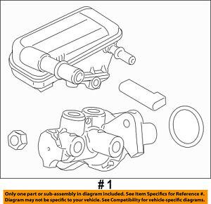 Brand New OEM Motorcraft Ford Focus Escape Brake Master Cylinder 2012-2016