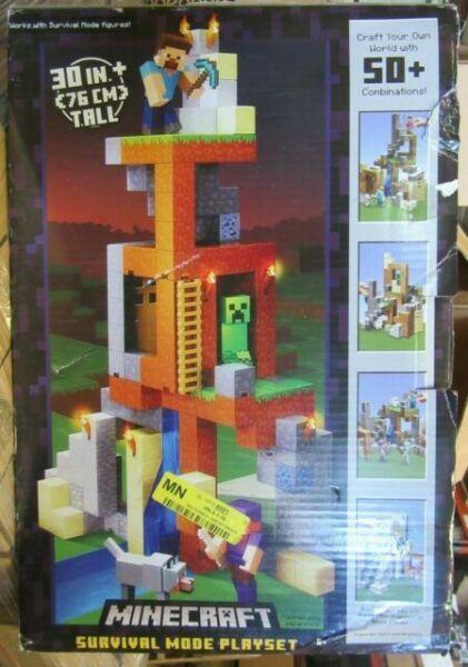 Minecraft Survival Mode Playset DNM76 50 Combination Mattel for