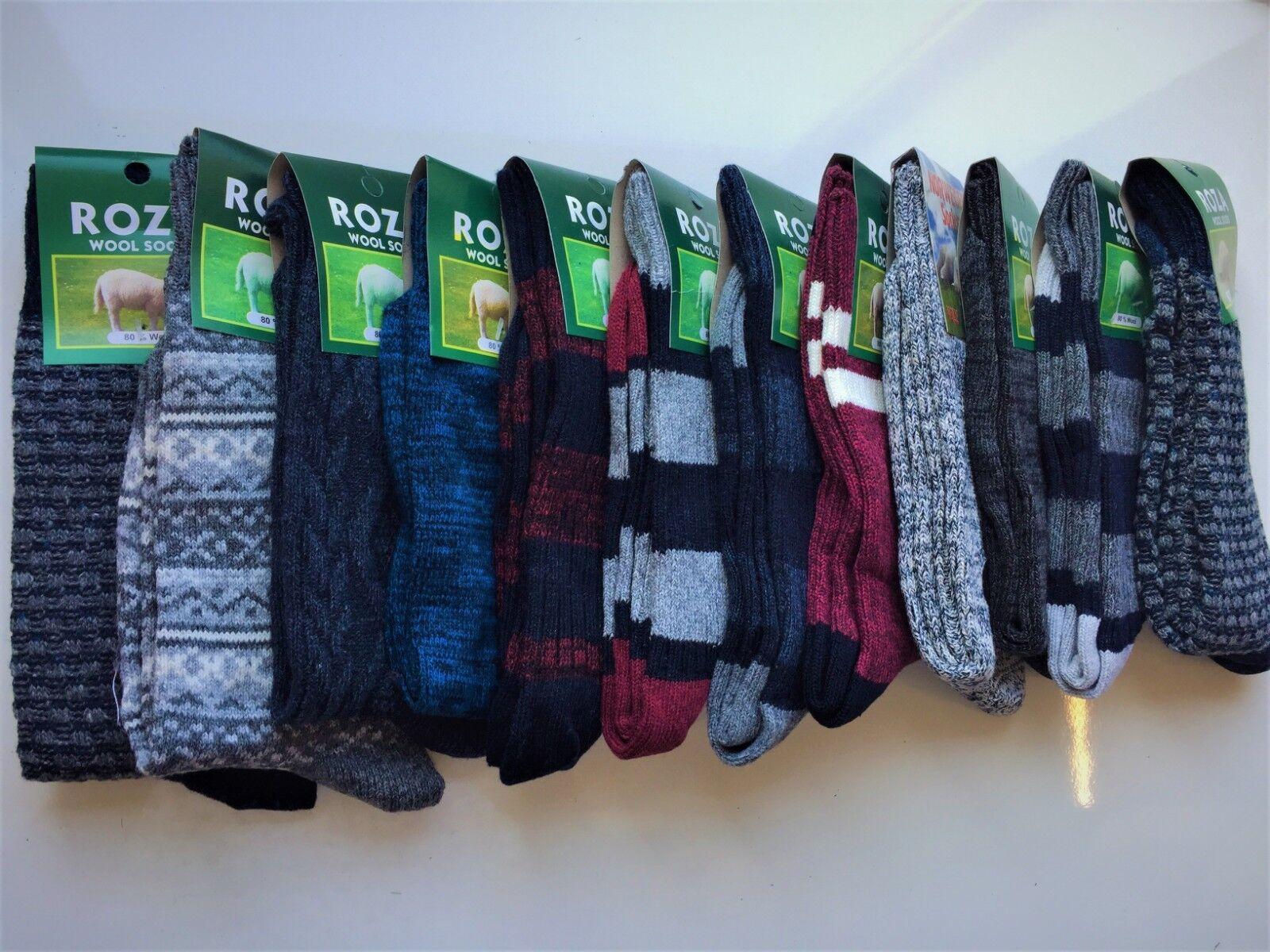 12 Paires Homme laine épaisse épaisse épaisse épais Travail Ran ée Boot Chaussettes Taille UK 6-11 wkmb 2b352d