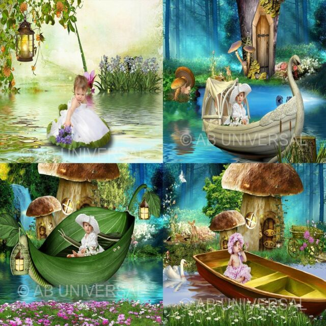 DIGITAL PHOTOGRAPHY FANTASY POND BACKGROUNDS CHILDREN BACKDROPS