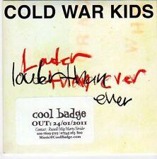 (EM56) Cold War Kids, Louder Than Ever - 2011 DJ CD