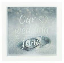Hochzeit KAPITAL Spardose Gerahmt Glas Verpackung 'UNSERE Kapital' Verlobung