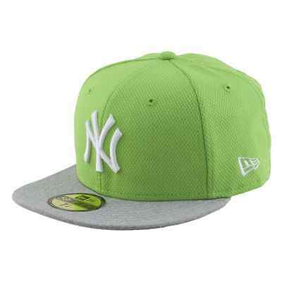 NEW ERA CAPPELLO CON VISIERA PIATTA HEATHERA NEW YORK YANKEES VERDE GRIGIO