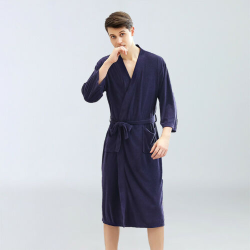 Mens /& Ladies Cotton Blend Terry Towelling Shawl Bath Robe Hooded Dressing Gown