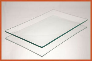 "5"" X 8"" Rectangle Clear ""BENT"" Glass Plate 1/8"