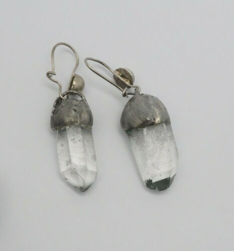 Vintage handmade artisan Mountain Rock Crystal Qua