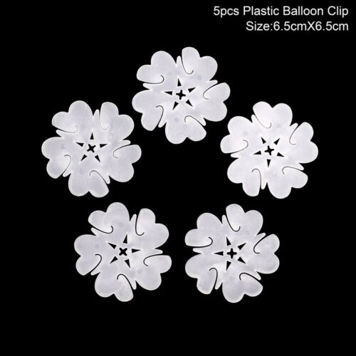 5-100pcs Latex Balloon Arch Stand Connectors Clip Flower Shape Sealed Birthday