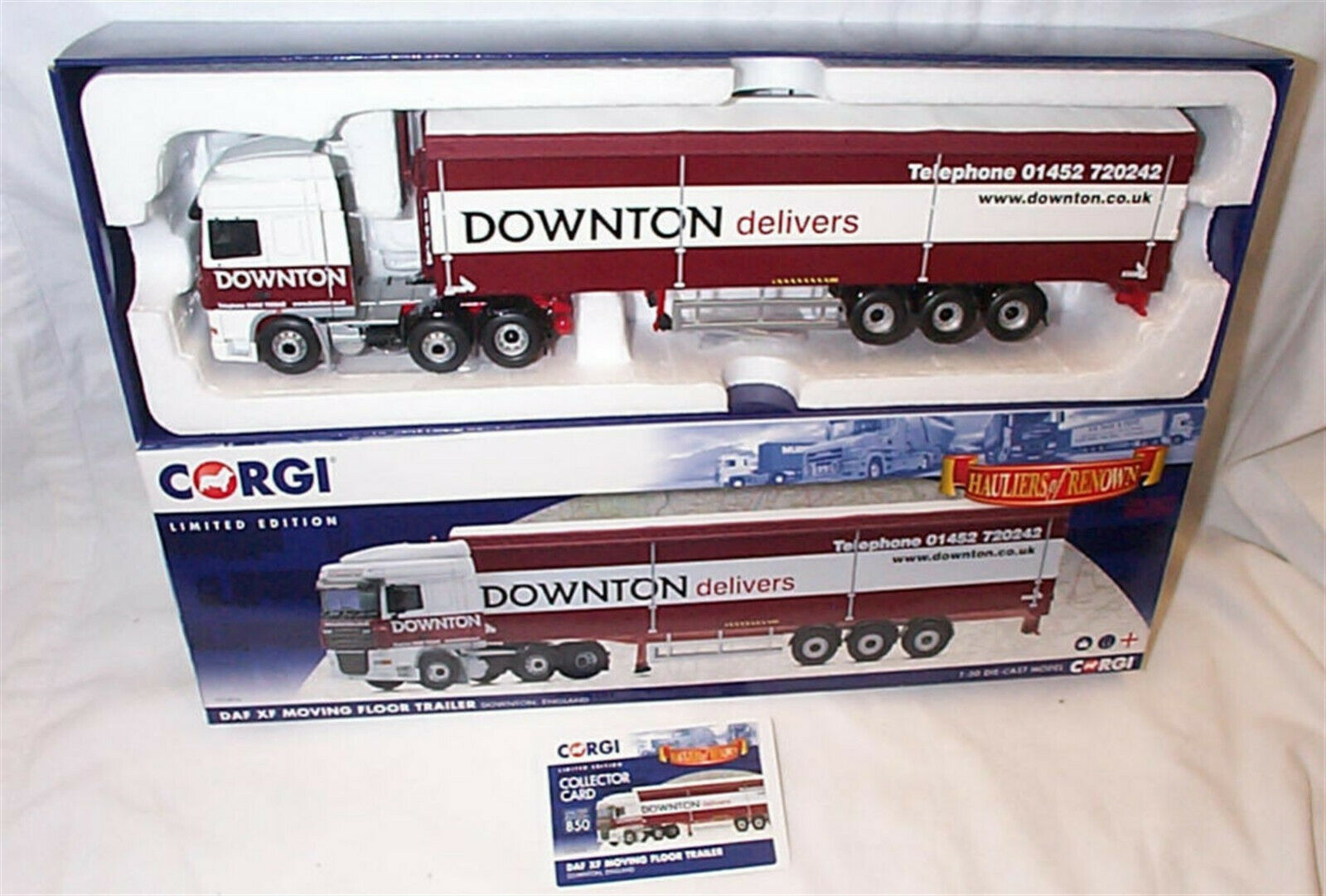 DAF  XF Moving Floor Trailer Downton CC14116 1-50 nouveau IN BOX LTD ED  abordable