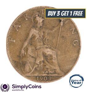 1902 To 1910 Edward VII British Centime 1/4d Choix de l'année/date