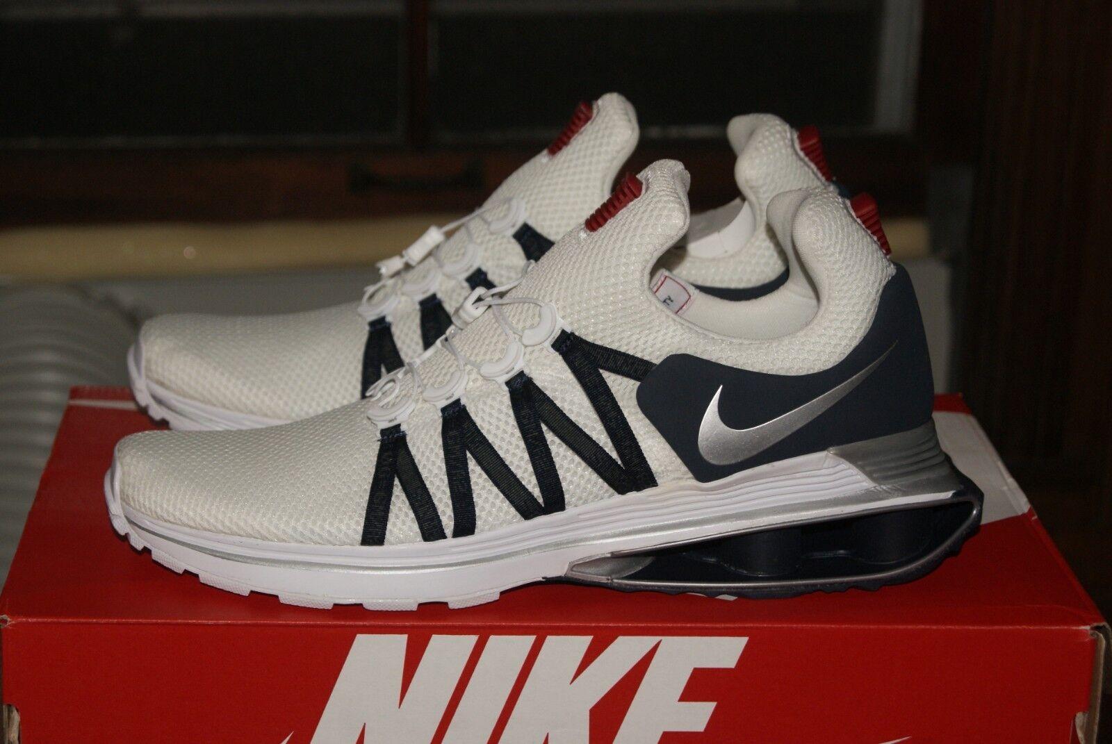 Mens Nike Shox Gravity White Silver blueee 9 10 10.5 11 11.5 12 AR1999 Run Walk
