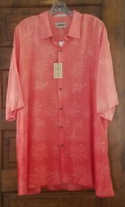 Campia Moda Ombre Coral Hawaiian Shirt Aloha Tiki Style Mens Sz 2XL XXL