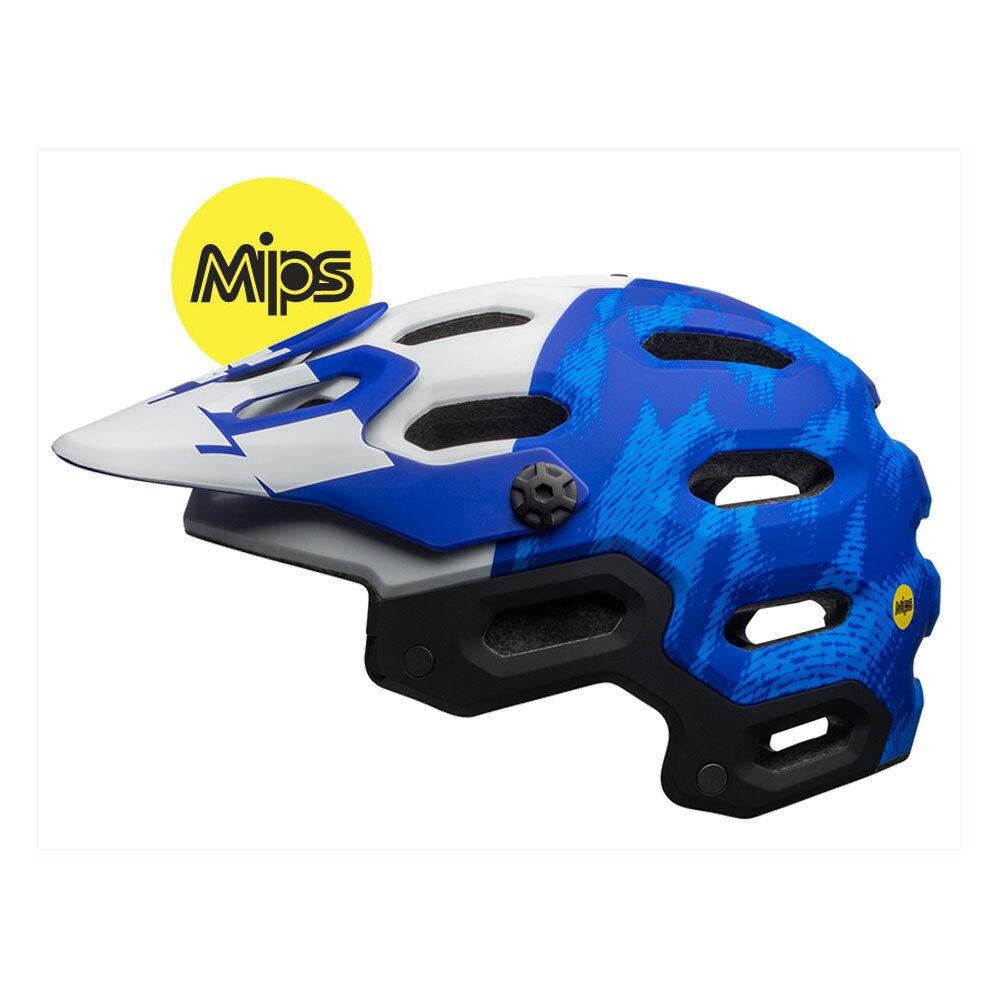 Bell Super 3 MIPS Casco Azul Mate-Force Bicicleta De Montaña Trail Enduro Crash MTB