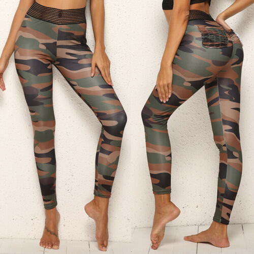 Women 3D Printed Yoga Pants Sports Fitness Leggings Running Exercise Trousers LC