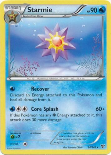 Starmie Rare Pokemon XY Base Set Card # 34 4x XY01-034
