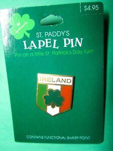 1990-HALLMARK-ST-PATRICKS-IRELAND-SHAMROCK-METAL-LAPEL-PIN-NOC-SLP2099-S8