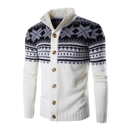 Cardigan chandails hommes fermeture éclair solide impression Sweater Knitwear Coats