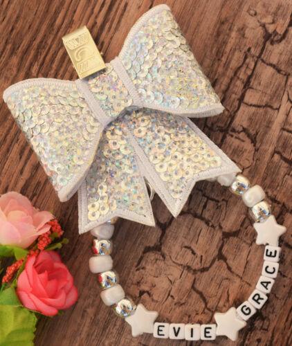 Personalised stunning pram charm in silver white colour  gift bling diamond dum