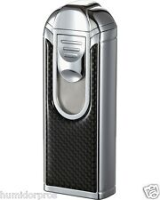 VISOL Yozora 4 Quad Jet Torch Carbon Fiber Large Capacity Butane Table Lighter