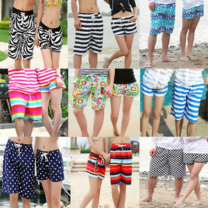 Hot Fashion Mens Womens Lovers Various Beach Surf Board Swim Shorts Trunks Pants