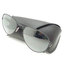 Ray Ban RB 3523 006/6g Matte Black Metal Aviator Sunglasses Silver Mirror Lens
