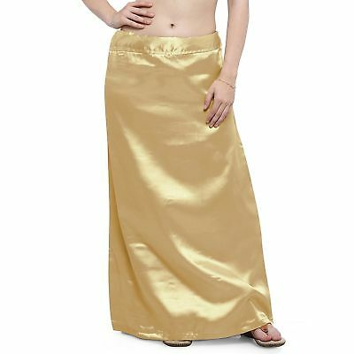 Ready-Made Inskirt Lining For Sari Indian Satin Silk Petticoat Gift For Women
