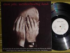 "ELTON JOHN, SACRIFICE/HEALING HANDS, 12"" SINGLE 1990 UK A1/B1 EX/EX-, EJS 2212"