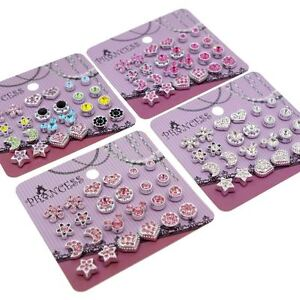 color crystal magnetic clip on stud earrings fashion jewelry for kids teen girls ebay. Black Bedroom Furniture Sets. Home Design Ideas