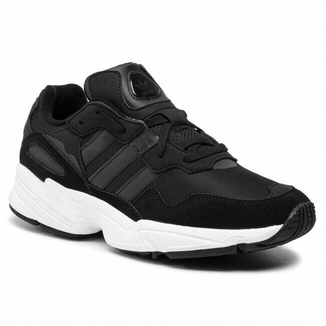 MENS ADIDAS ORIGINALS YUNG-96 BREATHABLE COMFORTABLE TRAINERS IN BLACK RRP